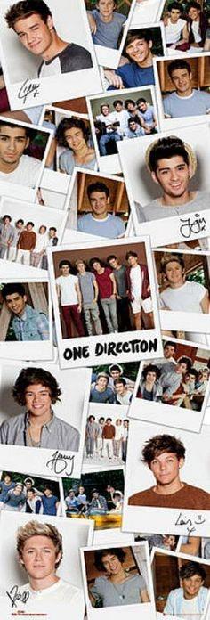 One Direction : Polaroids - Door Poster 53cm x 158cm (new & sealed)