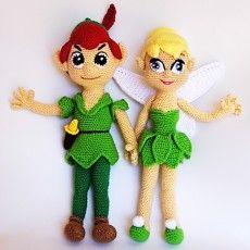 Patrones PDF Peter Pan y Campanilla