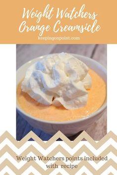 Weigh Watchers Orange Creamsicle - 1 Freestyle Point. #weightwatchers #weightwatchersrecipes #dessert #snack #greekyogurt #orangecreamsicle