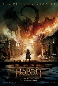 I just found the teaser trailer for The Hobbit: The Battle of the Five Armies (First debut was yesterday at Comic-Con) Coming to theaters (In the US) De. HOBBIT: The Battle of the 5 Armies Teaser Trailer! Gandalf, Legolas, Thranduil, Hobbit 3, The Hobbit Movies, Hobbit Dragon, Hobbit Dwarves, Smaug Dragon, Critique Film