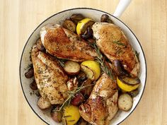 Skillet Rosemary Chicken — Most Popular Pin of the Week | FN Dish – Food Network Blog. Tasty chicken skillet!