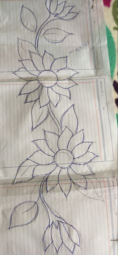 Aari Embroidery, Flower Embroidery Designs, Creative Embroidery, Basic Painting, Painted Clothes, General Crafts, Cross Stitch Flowers, String Art, Coloring Pages