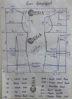 You should know this back armhole rule. Pattern Drafting Tutorials, Easy Sewing Patterns, Sewing Tutorials, Pattern Cutting, Pattern Making, Sewing Basics, Sewing Hacks, Blouse Patterns, Clothing Patterns