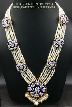 Necklace Set Gold Collections each Gold Jewellery Necklace Set Enamel Jewelry, Gold Jewelry, Beaded Jewelry, Beaded Necklace, Gold Necklaces, Pearl Necklace, Diamond Necklace Set, Indian Jewelry, Tikka Jewelry