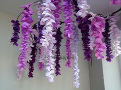 Tissue paper wisteria display