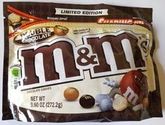 2017 Double Chocolate M&M's Limited Edition 9.60 Oz Free Worldwide Shipping
