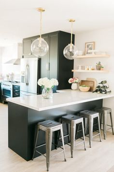 Classic Black: Bright and Light IKEA   Semihandmade Kitchen