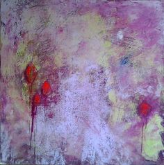 liz doyle orchids left panel oil & cwm on cradled birch panel 80cm sq