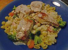 Chicken Primavera Alfredo at Surviving the Food Allergy Apocalypse