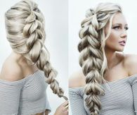 Long Thick Blonde Braid