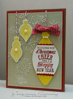 Ornament Keepsakes Christmas Cheer Ornament Card -- Northern Flurry EF