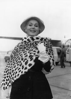 Zsa Zsa Gabor, white gloves, a hat and elegance all round.