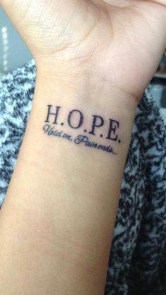 Little Tattoos, Mini Tattoos, Bff Tattoos, Tatoos, Small Tattoos, Wrist Tattoos Quotes, Word Tattoos, Girl Wrist Tattoos, Inner Wrist Tattoos