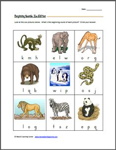 Beginning Letter Sounds: Zoo Edition | Mamas Learning Corner  Lots of great printable preschool/kinder worksheets