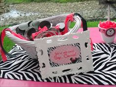 """Photo 3 of 24: Minnie Mouse and Zebra Print / Birthday """"Alaina's Zebra & Pink Minnie Mouse 1st Birthday"""" 