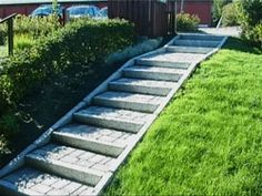 Image result for trapp i skråning Garden Steps, Stepping Stones, Paths, Sidewalk, Stairs, Flooring, Outdoor Decor, Image, Walkway