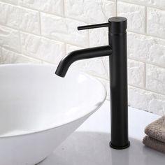 Bateria umywalkowa LUNGO CZARNA WYSOKA - REA 7673560952 - Allegro.pl Faucet, Sink, Faucet Style, Bathroom Faucets, Home Hardware, Water Tap, Brass Bathroom, Single Hole Bathroom Faucet, Basin