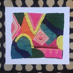 Hello, colorful art by Angela Ranzoni on Etsy