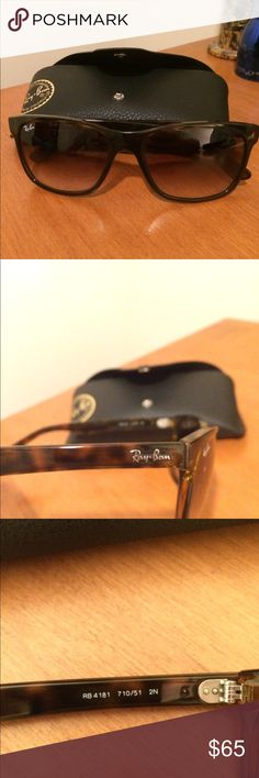 Ray Ban 4181 Havana brown / Tortoise Classic ray ban 4181's in Tortoise with Havana brown gradient lenses. Great condition, with barely noticeable wear on lenses. Ray-Ban Accessories Sunglasses