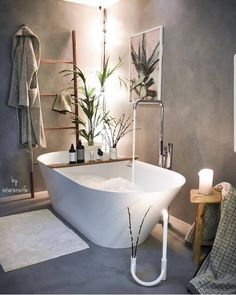 Sometimes we all just need a calming bath Awesome shot by ✨ repost from Tag us to be featured too Cocinas Kitchen, Loft House, Bathroom Goals, Home Upgrades, Home And Deco, Bathroom Interior Design, Home Decor Furniture, Bathroom Inspiration, Modern Bathroom