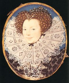 Lettice Knollys, Countess of Leicester attributed to George Gower, c.1585. (The Marquess of Bath) This lady is the granddaughter of Mary Boleyn... Her mother was, perhaps, the daughter of Henry the Eighth....