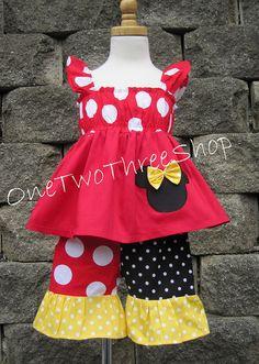 Custom Boutique Clothing Minnie Mouse Cap Sleeve Capri by amacim, $39.99