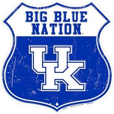 Kentucky Wildcats Big Blue Nation Metal Shield SignYou can find University of kentucky and more on our website. Kentucky Wildcats Football, Kentucky Basketball, University Of Kentucky, Uk Wildcats Basketball, Basketball Memes, College Basketball, Basketball Players, Pitt Basketball, Basketball Practice