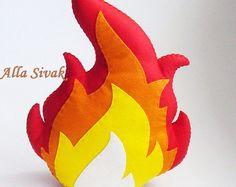 Felt Campfire, Felt Fire, Toy Fire, Kids camp fire, Play Campfire, Pretend Fire, Fake Fire, Toy Campfire, Faux fire, Felt campfire flame