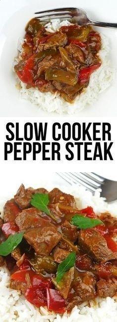 Slow Cooker Pepper Steak!!! - 22 Recipe
