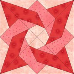 Birthday Star Block PDF pattern  by dreamcastlequilts