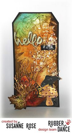 Susanne Rose Designs: Autumn Tag for the Rubber Dance October Challenge