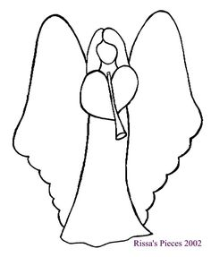 Variety of Free Embroidery Patterns (This angel for my Ruthie to line embroidery. Printable Christmas Ornaments, Painted Christmas Ornaments, Christmas Angels, Felt Christmas, Christmas Images, Simple Christmas, Free Applique Patterns, Felt Angel, Christmas Quilt Patterns