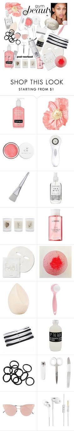 """""""Gym beauty"""" by paisleydpatch ❤ liked on Polyvore featuring beauty, Clarisonic, Herbivore, Elizabeth Scarlett, Laneige, Space NK, GURU, Christian Dior, Forever 21 and NIKE"""