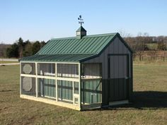 Chicken stable with a wind vane gable.