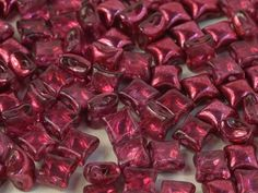 WibeDuo-00030-67958 - WibeDuo® 8x8 Beads - Metallic Crystal Pomegranate - 25 Count Crystal Shop, Bead Shop, Pomegranate, Metallica, Seed Beads, Count, Beading, Burgundy, Tutorials