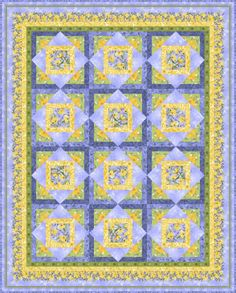 Blue & yellow quilt.  Would look so good in our bedroom.