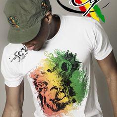 Rasta Lion t-shirt Cooyah Follow @cooyahclothing on instagram #Fashion #reggae #lifestyle