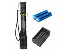 UK 60000Lm LED UV Flashlight UV Light Torch Zoomable 395nm Blacklight 18650