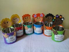 Tin Can Crafts, Diy And Crafts, Crafts For Kids, Montessori Activities, School Decorations, Kids Church, Head Start, Craft Work, Kids Education