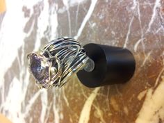 RING ... SILVER WITH AMETHIST