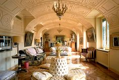 Donatella's incredible vaulted ceiling
