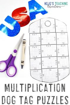 If you're on the lookout for Veterans Day activities for kids, elementary students LOVE these MULTIPLICATION dog tag identification puzzles. Use them at any time of year for military celebrations and thanks. There's a FREE download in the post, plus book ideas, & more. Perfect for your 3rd, 4th, and 5th graders. (third, fourth, fifth grade) #VeteransDayActivities #ThirdGradeMath #FourthGradeMath #FifthGradeMath #VeteransDay 5th Grade Centers, Fifth Grade Math, Fourth Grade, Veterans Day Activities, Math Activities, 4th Grade Classroom, Classroom Ideas, Student Teaching, Fun Math