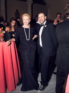 Carolina Herrera & Herve Pierre - Apollo Circle Benefit at the Metropolitan Museum of Art