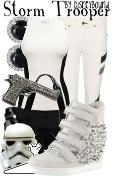 Silly me! They were STORMTROOPER shoes....not space shoes. @Denise H. H. Harre we should have known!