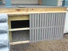 Related image Mobile Home Siding, Mobile Home Repair, Mobile Home Steps, Mobile Home Porch, House Skirting, Deck Skirting, Remodeling Mobile Homes, Home Remodeling, Terrasse Mobil Home