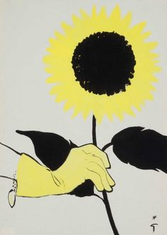 Illustration by René Gruau, 1955, Cover art for International Textiles.