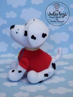Dalmatian Like Marshall From The Paw Patrol Pdf Pattern - Amigurumi Crochet Teddy Bear Pattern, Crochet Baby Hat Patterns, Dog Pattern, Crochet Baby Hats, Crochet Patterns Amigurumi, Crochet Toys, Baby Knitting, Free Pattern, Paw Patrol