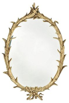 Gilded Reed Wall Mirror, Gold | Insider Source | One Kings Lane