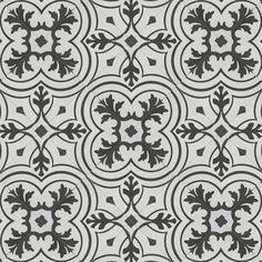 "Medici Mosaics Cemento Encaustic 8"" x 8"" Field Tile   Wayfair Fireplace Facade, Fireplace Surrounds, Wall And Floor Tiles, Wall Tiles, Bathroom Flooring, Kitchen Flooring, Spanish Design, Encaustic Tile, Stone Tiles"