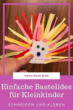 A simple craft for toddlers. Made with a few materials in a short time and therefore ideal for children from 2 years. Resin Crafts, Craft Stick Crafts, Decor Crafts, Paper Crafts, Toddler Crafts, Easy Crafts, Crafts For Kids, Arts And Crafts, Crafts Toddlers